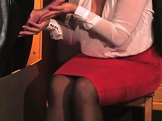 European Cfnm Beauties Tugging Slaves Cock Nuvid