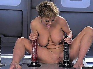 Machine Loving Milf Gets Her Ass Fucked