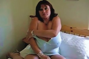 Busty Cougar Wife Is Chubby But Her Tits Are Huge And Funky