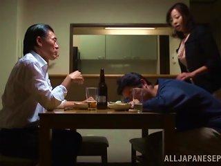 Cuckold Video Of A Japanese Milf Making Her Man Watch Her Fuck