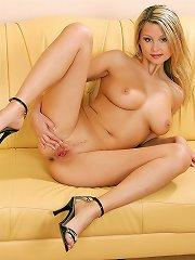 Teenage blonde with boobies naked
