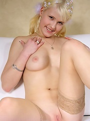 Petrina is a very sweet girl. But sometimes she likes to do something extraordinary. She shows her ass-hole opened.