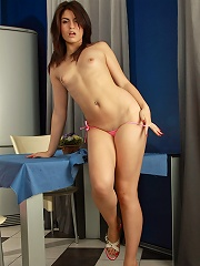 Nubiles.net Isabel - Cock hungry hottie Isabel widely spreads her sexy legs for a great taunting view of her tight pussy