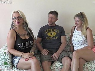 BRAVOTUBE @ 2 Amateur Milfs Invited A Friend Over To Have Their First Threesome