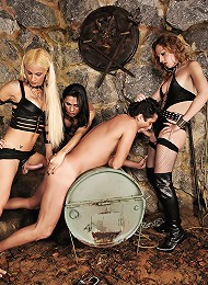 Shemale mistresses treat a guy badly