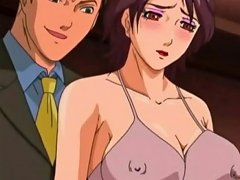 Business Men Fuck A Busty Anime Prostitute