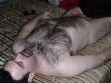 Hairy chested men do anything to get their rocks off